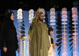 محمد بن راشد يكشف عن الشعار الجديد لإكسبو 2020