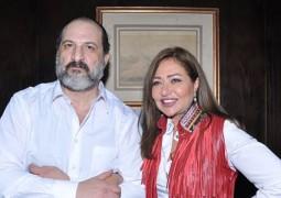 خالد الصاوي يحتفل مع ليلى علوي بتصوير هي ودافنشي