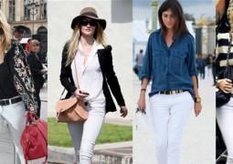 الجينز الأبيض يتربع عرش الموضة في صيف 2016