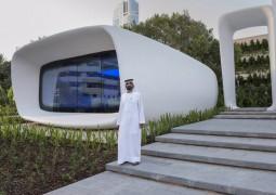 محمد بن راشد آل مكتوم  يفتتح أول مكتب مطبوع بتكنولوجيا الطباعة ثلاثية الأبعاد في العالم