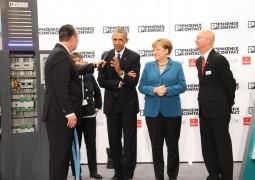 """الرئيس الأمريكي باراك اوباما يزور """"فونيكس كونتاكت"""" في معرض """"هانوفر"""""""