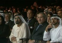 الشيخ محمد بن راشد آل مكتوم والأميرة هيا بنت الحسين في الإفتتاح الرسمي لـ منتدى الإعلام العربي ٢٠١٦