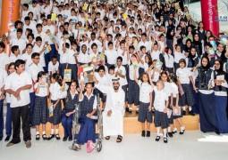 """محمد بن راشد يعلن ختام حملة """"أمة تقرأ"""" بأكثر من 8.2 مليون كتاب ."""