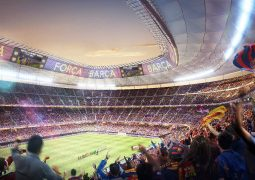 """""""نيكين سيكاي"""" تستعرض التصميم الجديد لملعب نادي برشلونة خلال فعاليات معرض سيتي سكيب بدبي"""