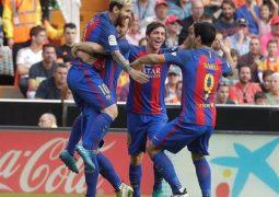 في الدقيقة الأخيرة برشلونة ينهي فلنسيا