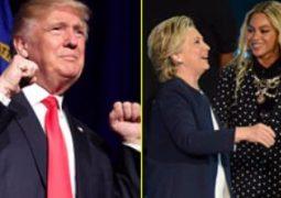 ترامب يتهم كلينتون بالغش بسبب دعم بيونسيه لها