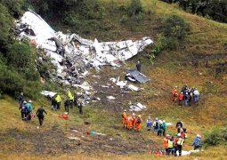 تحطم طائرة فريق شابيكوينسي البرازيلي