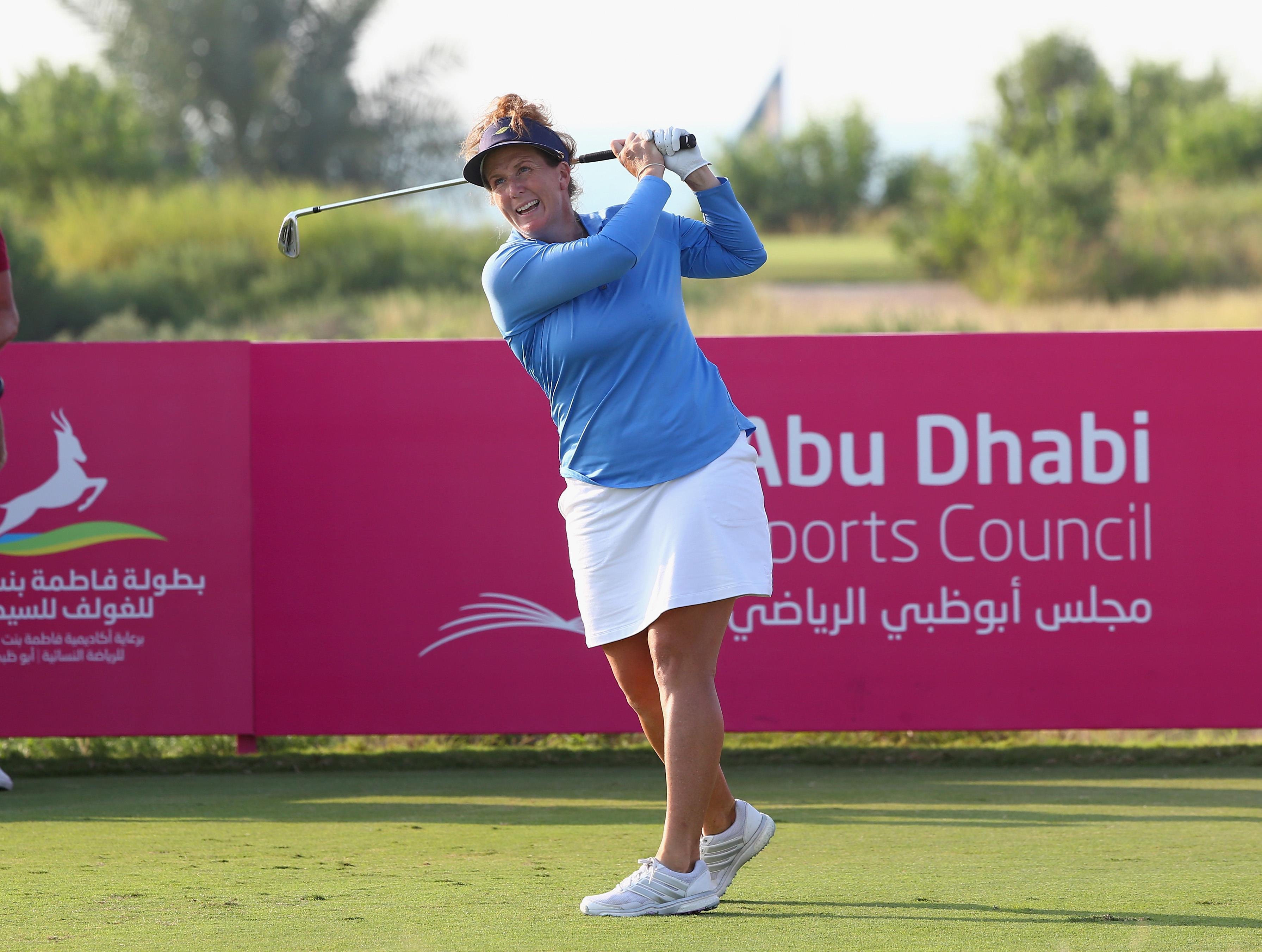 during the final round of the Fatima Bint Mubarak Ladies Open at Saadiyat Beach Golf Club on November 5, 2016 in Abu Dhabi, United Arab Emirates.