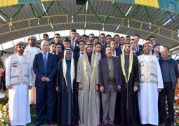 الهلال الأحمر الإماراتي ينظم حفل زفاف ل 50 عريسا وعروسة في المخيم الإماراتي الأردني