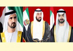 محمد بن زايد : الامارات محظوظة بوجود قيادات على رأسها خليفة ومحمد بن راشد صناع الأمل وشركاء المستقبل.