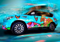 """""""نيسان باترول"""" الخاصة بـ """"المسعود للسيارات"""": لوحة تلهم الفنان روميرو بريتو"""