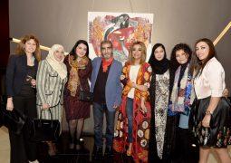 بالصور : الفنان التشكيلي زهير حسيب يقيم معرضه في دبي رداُ على القتل والدمار