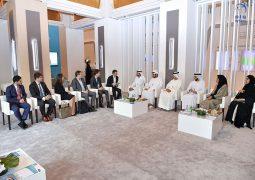 """حمدان بن محمد يستقبل المؤسس والرئيس التنفيذي لشركة """" أوبر"""""""