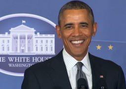 بالفيديو أوباما مطرباً يغني على منبر الخطابات الرئاسي
