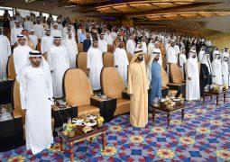 بحضور محمد بن راشد .. ولي عهد دبي يفتتح الدورة الثانية والعشرين من كأس دبي العالمية لسباق الخيل