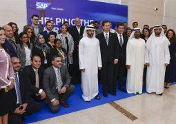 حمدان بن محمد يزور المقر الجديد لشركة ساب الألمانية بمدينة دبي للإنترنت