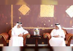 """حاكم رأس الخيمة يطلع على خطط وزارة """" التغير المناخي"""" في الإمارة"""