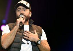 تامر حسنى يفوز  بلقب أفضل مطرب بجائزة الموسيقى العربية فى بيروت