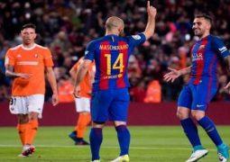 ماسكيرانو في أول هدف له مع فريق برشلونة