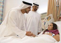بعد وفاة والدتهما وزيارة محمد بن زايد لهما حمد ونتالي يغادران المستشفى