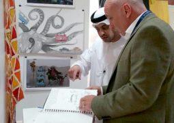 الدكتور حامد السويدي يفتتح معرض الفنون للمدرسة البريطانية