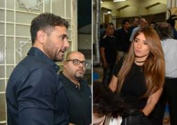 أحمد عز وزينة يجتمعان في مكان واحد