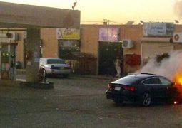 بالفيديو مقيم مصري في السعودية يقوم بعمل بطولي وينقذ محطة وقود من الاشتعال
