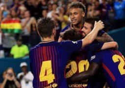 """برشلونة يحسم الـ""""كلاسيكو"""" الودي أمام ريال مدريد"""