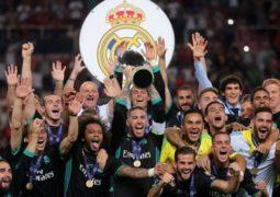 ريال مدريد بطل سوبر أوروبا على حساب مانشستر يونايتد