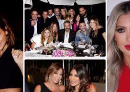 مايا دياب وسيرين عبد النور ونجوم لبنان فى حفل عشاء أبو جودة وحجار