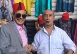 محمد صبحى وإلهام شاهين وبوسى شلبى فى دمشق لحضور معرضها الدولى