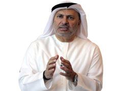 قرقاش: محمد بن زايد أحد رموز تمكين العرب لإستقرارهم ومستقبلهم