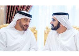 محمد بن راشد ومحمد بن زايد يبحثان عددا من القضايا الوطنية والإقليمية