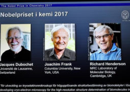 نوبل للكيمياء تمنح لكل من  السويسري جاك دوبوشيه والأميركي جواكيم فرانك والبريطاني ريتشارد هندرسون
