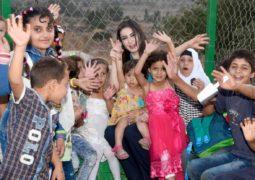 السفيرة تهامة بيرقدار تحتفل بعيد ميلادها مع اللاجئين في لبنان