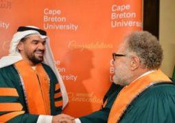 بالصور.. حسين الجسمى: فخور بمنحى الدكتوراه الفخرية بجانب يحيى الفخرانى