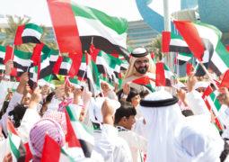 محمد بن راشد: عَلَم الإمارات رمز وحدتنا وراية مجدنا وتضحياتنا