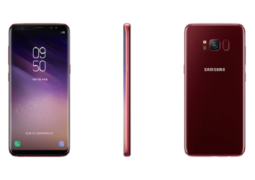 """هاتف """"غالاكسي إس8"""" باللون الأحمر"""