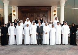 محمد بن زايد يستقبل وفود «الصناعات العسكرية» و«ربدان» و«الإمارات للرماية»