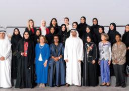 محمد بن زايد يستقبل وفد مؤتمر أبوظبي الدولي الرابع لرياضة المرأة