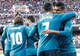 ريال مدريد يدك حصون فالنسيا برباعية
