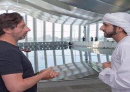 حمدان بن محمد يلتقي الشريك المؤسس لشركة جوجل العالمية