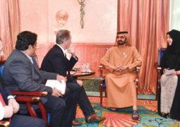 محمد بن راشد يستقبل المدير التنفيذي لبرنامج الأغذية العالمي