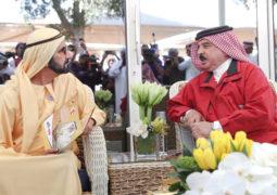 محمد بن راشد وحمد بن عيـسى يشهدان كأس ملك البحرين للقدرة