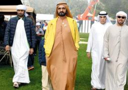 محمد بن راشد يشهد كأس رئيس الدولة للقدرة