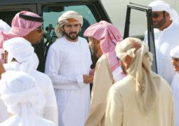 حمدان بن محمد يشهد رموز سن اللقايا في المرموم