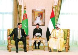محمد بن راشد ورئيس تركمانستان يبحثان الشراكة الاستراتيجية