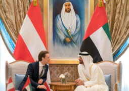 محمد بن زايد ومستشار النمسا يشهدان توقيع اتفاقية امتياز بين «أدنوك» و«أو إم في»