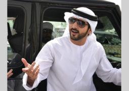 حمدان بن محمد يشهد سباقات أبناء القبائل في المرموم