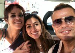 نور ابنة عمرو دياب تنشر صورة تجمعها بوالدها ودينا الشربينى